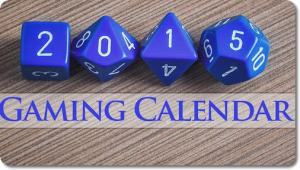 Scott King Gaming Calendar