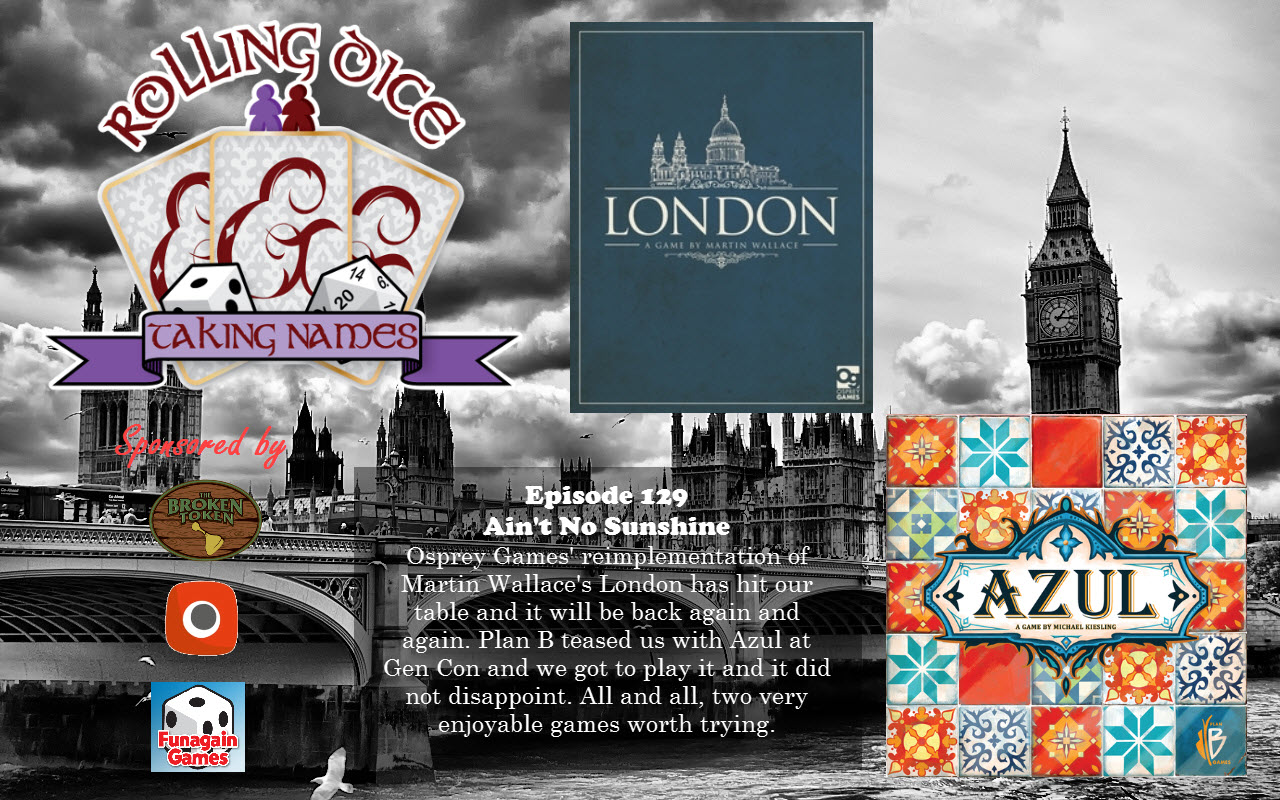 RDTN Episode 129: London, Azul, Flying Squirrels, and Rambling
