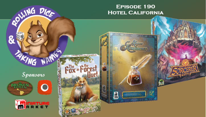 RDTN Episode 190: Sorcerer City, Masters of Renaissance Lorenzo il Magnifico: The Card Game, Fox in the Forest Duet